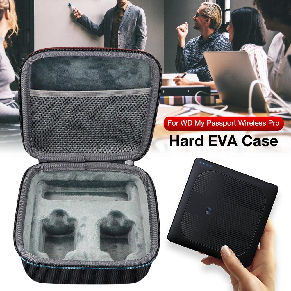 Bolsa de almacenamiento de disco duro inalámbrico EVA, funda portátil para WD...