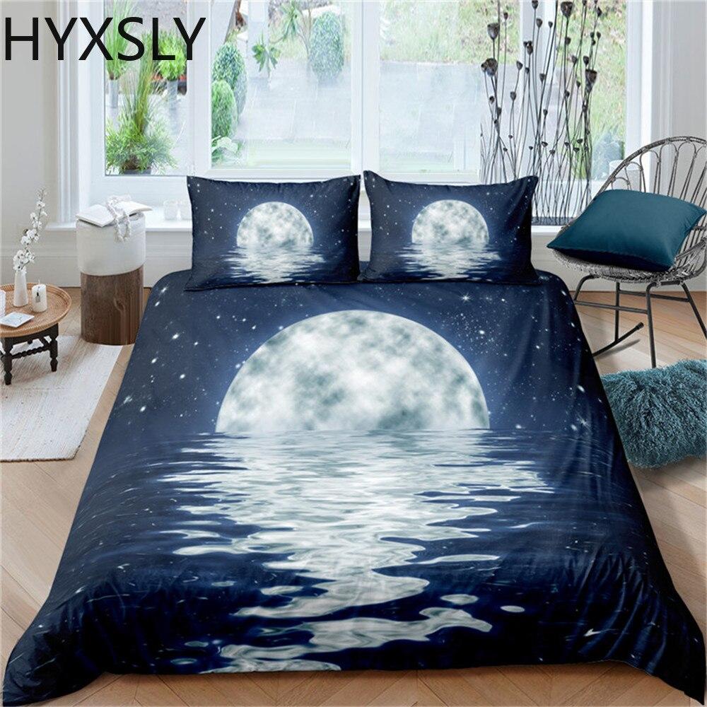 طقم سرير القمر ليلة عرض حاف الغطاء مع المخدة المفارش الملك الملكة كامل مزدوج حجم واحد المفارش مشهد تصميم
