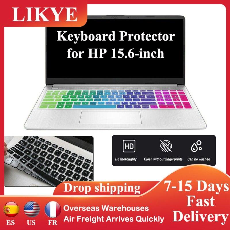 Новая защитная пленка для клавиатуры ноутбука подходит для HP 15,6 дюйма водонепроницаемый силиконовый защитный чехол для клавиатуры пыленеп...