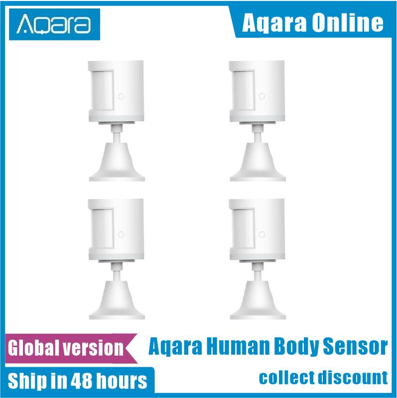 100% Original Aqara Human Body Sensor via Android IOS Smart Body Movement Motion Sensor Zigbee Connection For xiaomi Mi home App
