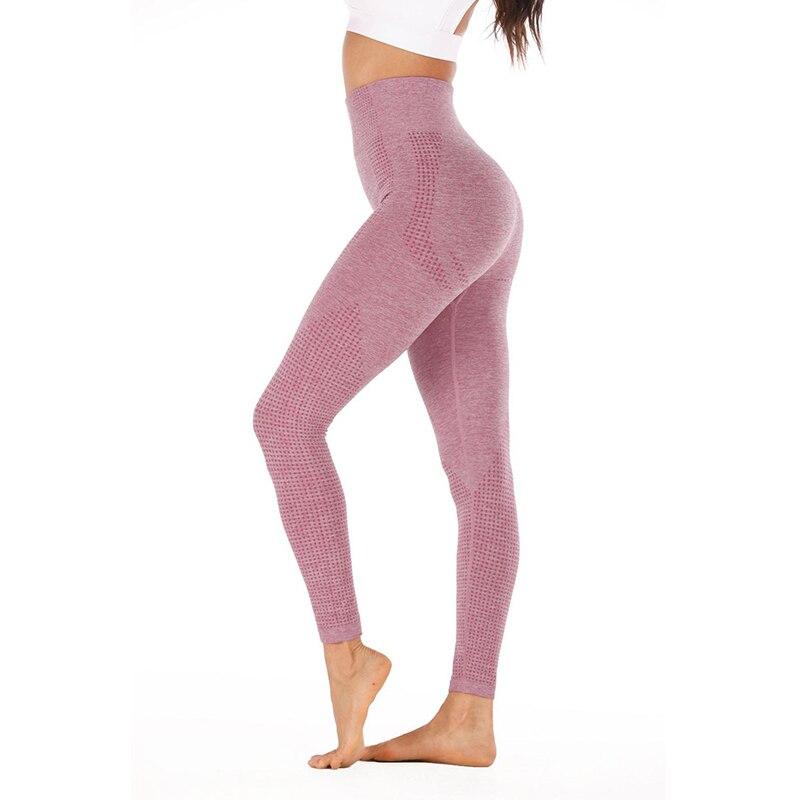 Cintura alta sem costura leggings até esportes de fitness correndo yoga calças energia ginásio menina hip treinamento terno