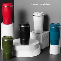 380ml510ml double stainless steel coffee thermos mug with non slip case car vacuum flask travel insulated bottle