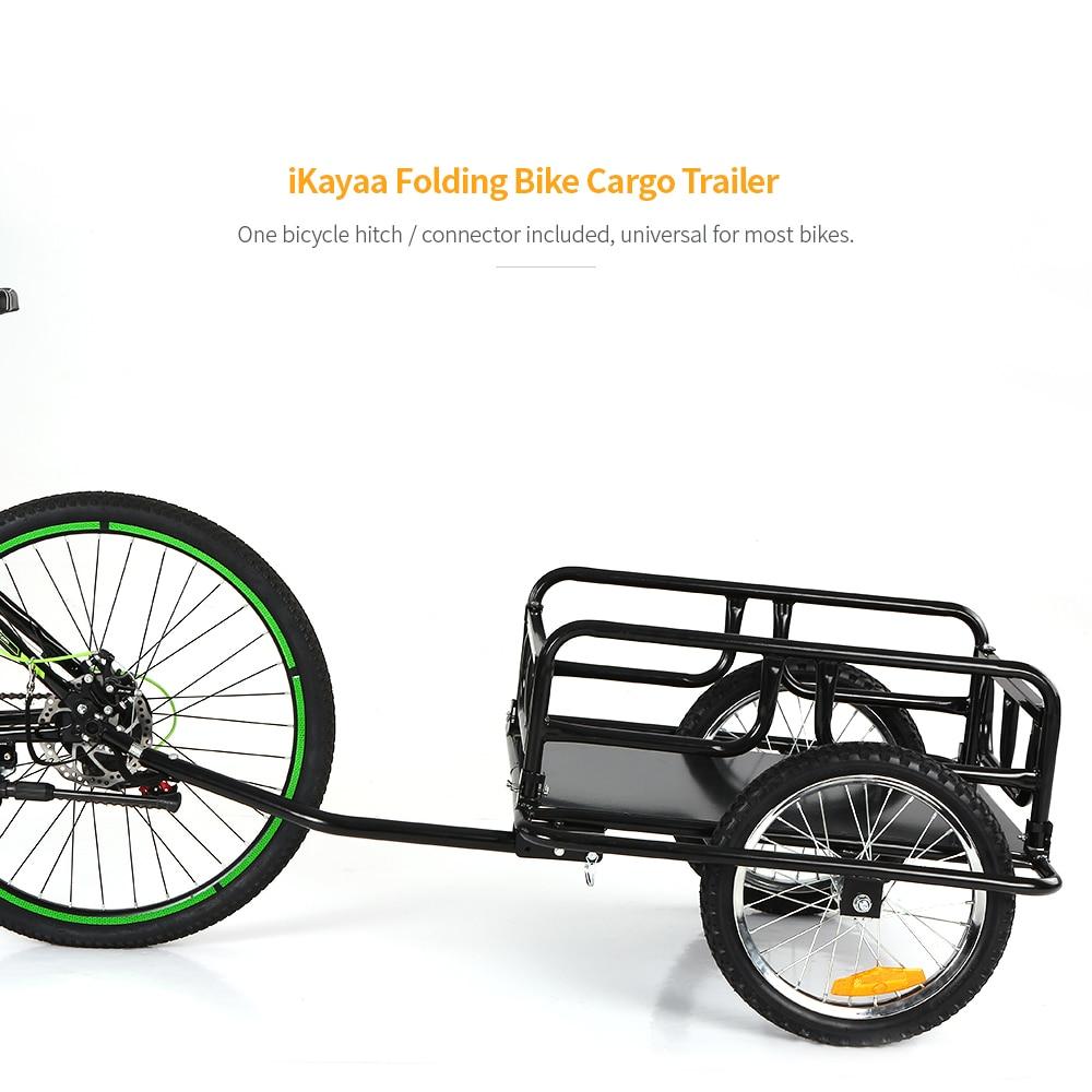 Новый складной велосипед грузовой прицеп ручной вагон велосипед багаж прицеп для хранения тележка Перевозчик w/съемная металлическая рама ...