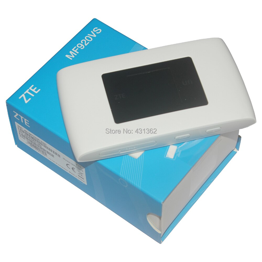 Original desbloquear 150Mbps ZTE MF920VS LTE inalámbrico WiFi Router 4G B1 B3 B7 B38 B40 B41 banda