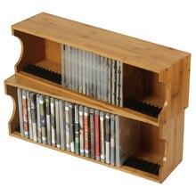 Estante de discos de juegos PS4 para almacenamiento de CD, decoración de pared para el hogar, soportes de CD para escritorio, disco de madera sólida, juego de CD, partición decorativa