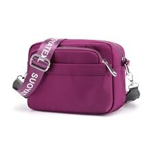 Messenger Women Bag Waterproof Handbag Soft Nylon Shoulder Bag Season Top-Handle Tote Girl Bag Fashion Crossbody Bag