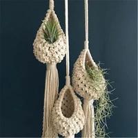 indoor pot storage flower decoration hanging woven net bag flower pot novelty hanging horticultural planting decoration tool