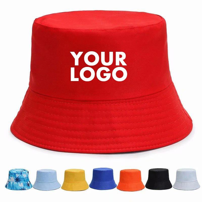 Nuevo verano Unisex sombrero con forma de cubo para mujer protector solar al aire libre de pesca gorra de caza sol evitar sombreros Logotipo de impresión personalizado texto Fishman sombrero