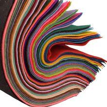 QUAN FANG 40 sztuk/partia 1.5mm grubości miękkie czuł tkaniny włókniny poliester dekoracji domu DIY pakiet szycia lalki rzemiosło 30x30cm