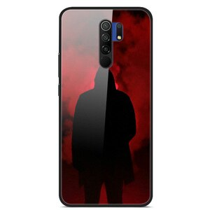 Case For Xiaomi Redmi 9 Tempered Glass Case Phone Case Back Phone Cover Series 3