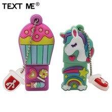 TEXT ME 64GB cartoon Unicorn hot air balloon style usb flash drive usb 2.0 4GB 8GB 16GB 32GB  pendrive gift