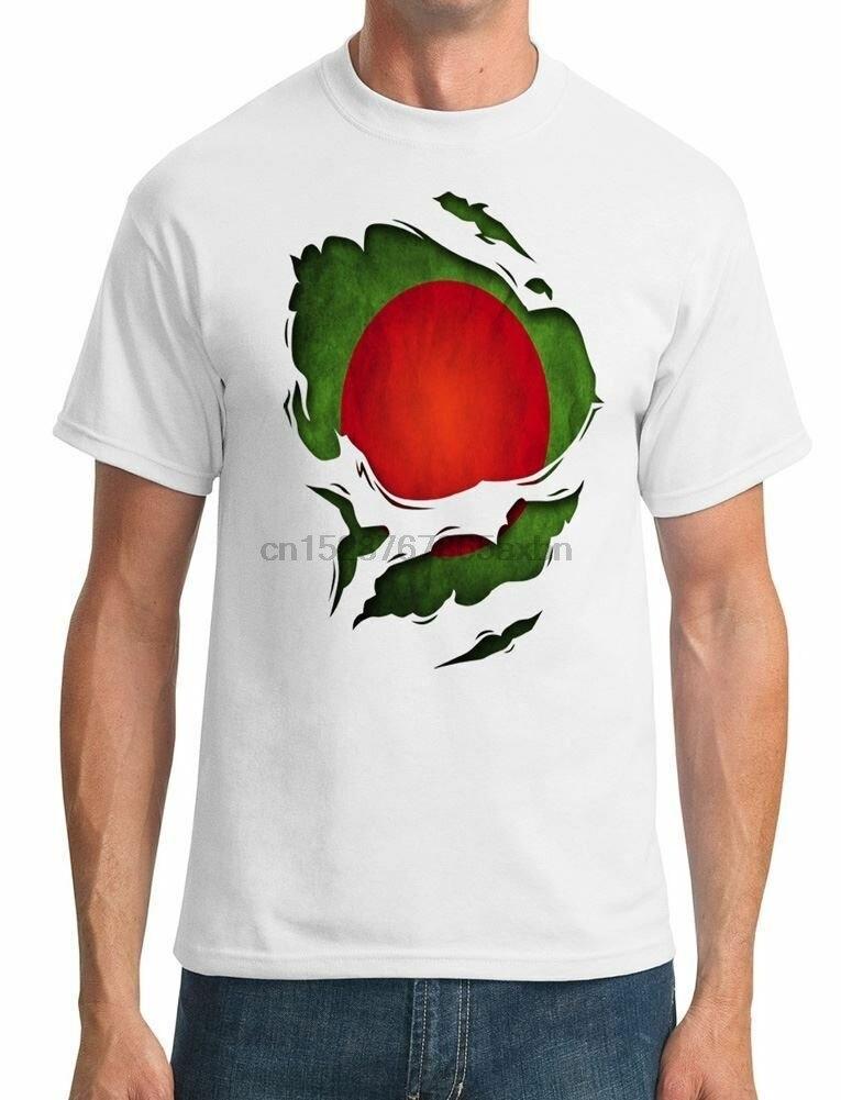 Camiseta de hombre de efecto rasgado de Bangladesh
