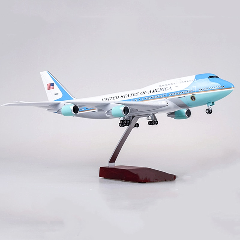 47 см 1150 масштаб самолетов американские ВВС один Boeing B747 Модель Смола литье под давлением самолет модель коллекционный дисплей подарки