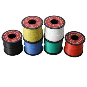 20-80m/ roll Electrical Stranded Wire 26 AWG UL3239 Flexible Silicone Wire Rubber Insulated Tinned Copper 3000V  Electronic Wire