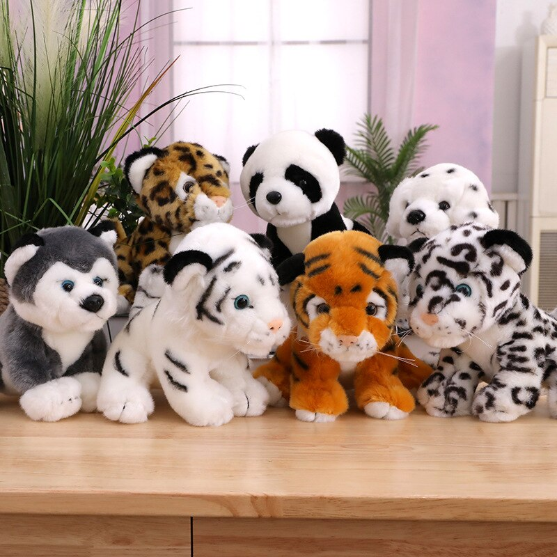 20cm León Tigre Husky peluche juguetes lindo Animal relleno muñecas almohada suave...