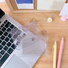 Mode Transparent étanche PVC carte étui clair affaires porte-carte femmes portefeuille carte sac carte didentité Mini portefeuille étui