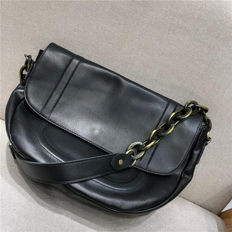 حقيبة ساع خمر للنساء 2021 جديد جلد البقر الطبيعي مصمم حقيبة يد فاخرة الإناث حمل عالية الجودة حقيبة كتف تحت الإبط