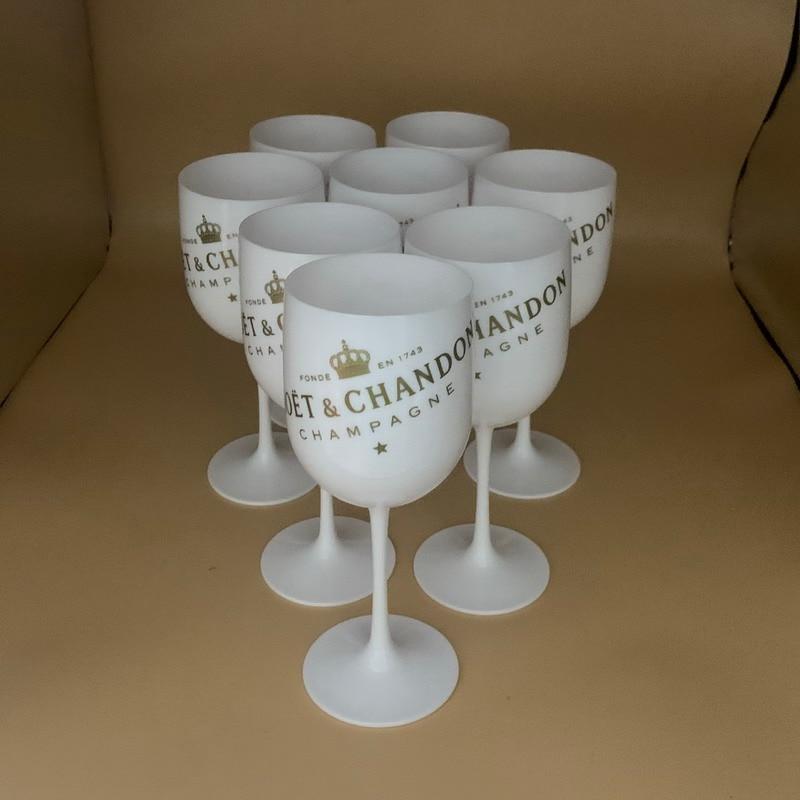 12pcs Factory Wholesale Plastic Wine Glasses PS Acrylic PC Plastic Glasses Champagne Flutes Cocktail Goblet Whiskey Cups
