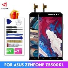 100% тестовый ЖК-дисплей для Asus Zenfone Go ZB500KL X00AD X00ADC X00ADA, кодирующий преобразователь сенсорного экрана в сборе, запасные части для панели
