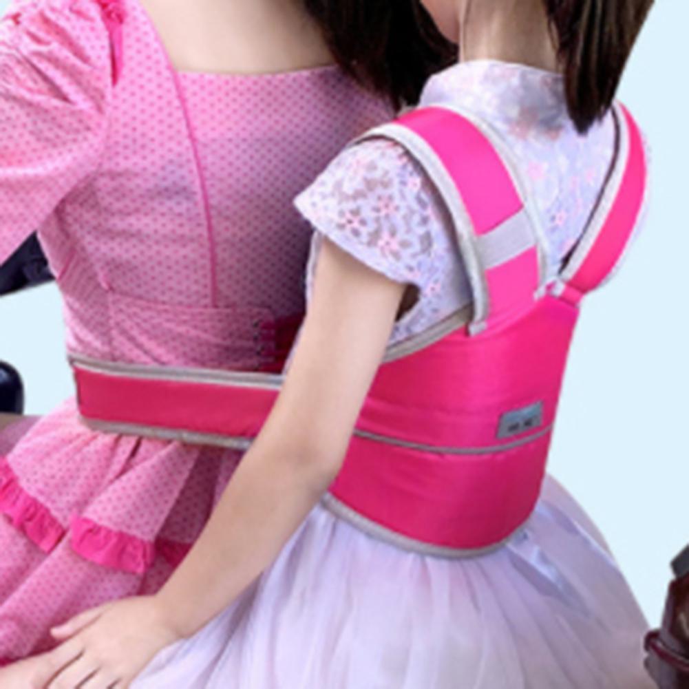 Arnés de seguridad para niños, transpirable, cómodo, para coche eléctrico, motocicleta, bicicleta, Scooter, correa de asiento para niños