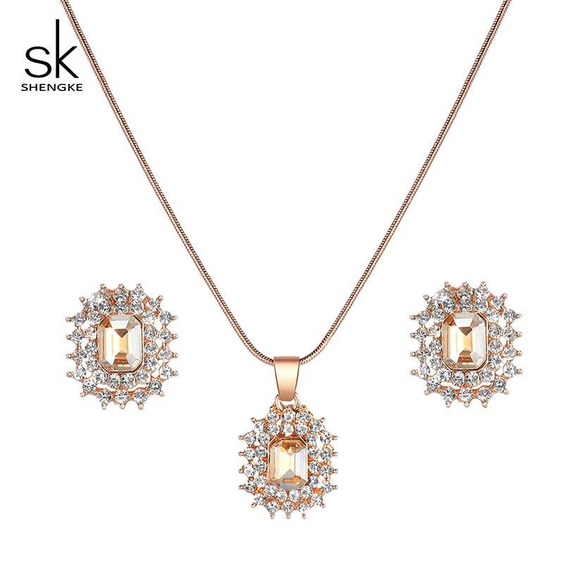 2020 New Shengke Creative Ladies Watch Quartz Luxury Brand Earrings Necklace SK Watch Women Jewelry Set Gift Fashion Reloj Mujer enlarge