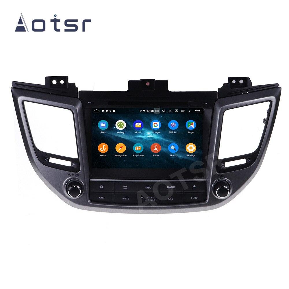 """Jogador do carro de aotsr android 9 para hyundai tucson ix35 2014 - 2018 auto rádio gps navegação dsp autostereo multimídia 2 din 8 """"unidade"""