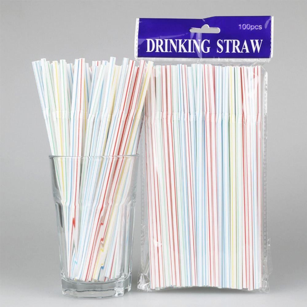 100 шт. изогнутая пластиковая Питьевая соломинка для коктейля гостиной свадьбы