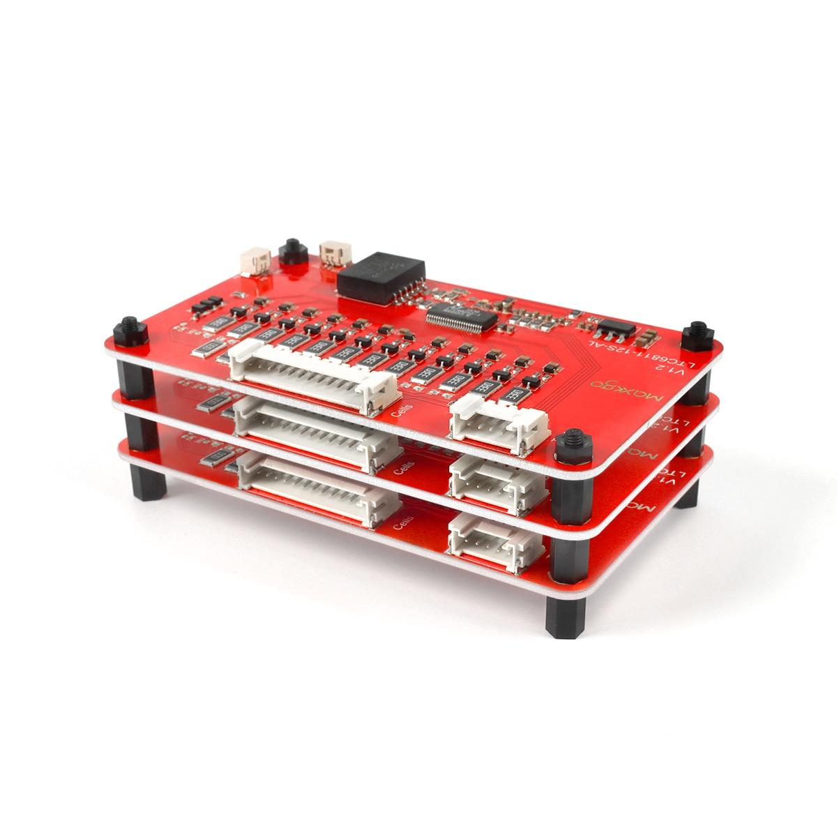 Battery Balance  BMS 8S 10S 12S Slave Board LTC6811 Aluminum Plate Li-ion Lithium 18650 Battery Management System