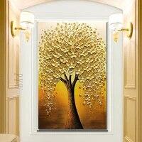 Peinture a lhuile sur toile moderne abstraite  couteau 3D peint a la main  decoration de luxe pour la maison