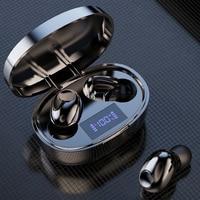 TWS беспроводные Bluetooth 5,1 наушники со светодиодным дисплеем, наушники-вкладыши, спортивные стереонаушники Водонепроницаемая гарнитура HIFI с м...