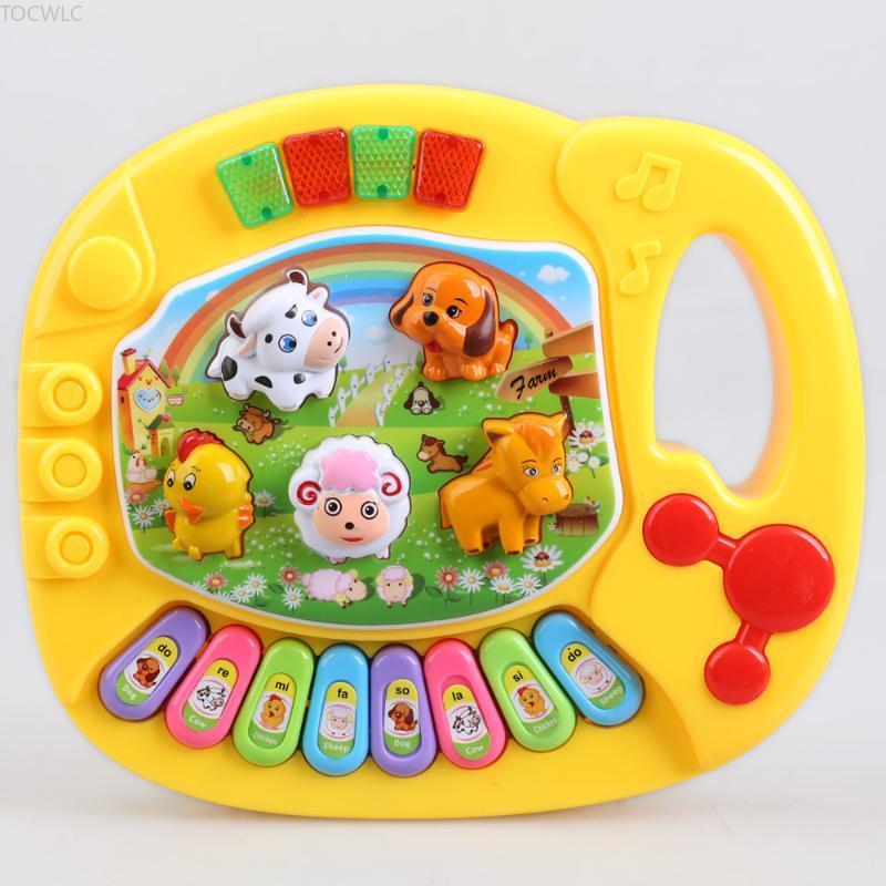 Baby Piano Musical Toys for Children Kids Musical Educational Piano Cartoon Animal Farm Developmental Baby Toy Toys Random Color недорого