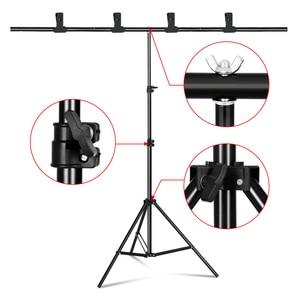 Фон для фотосъемки T-образной формы, подставка, рамка, система поддержки для фото студии, видео, хромакей, зеленый экран с подставкой