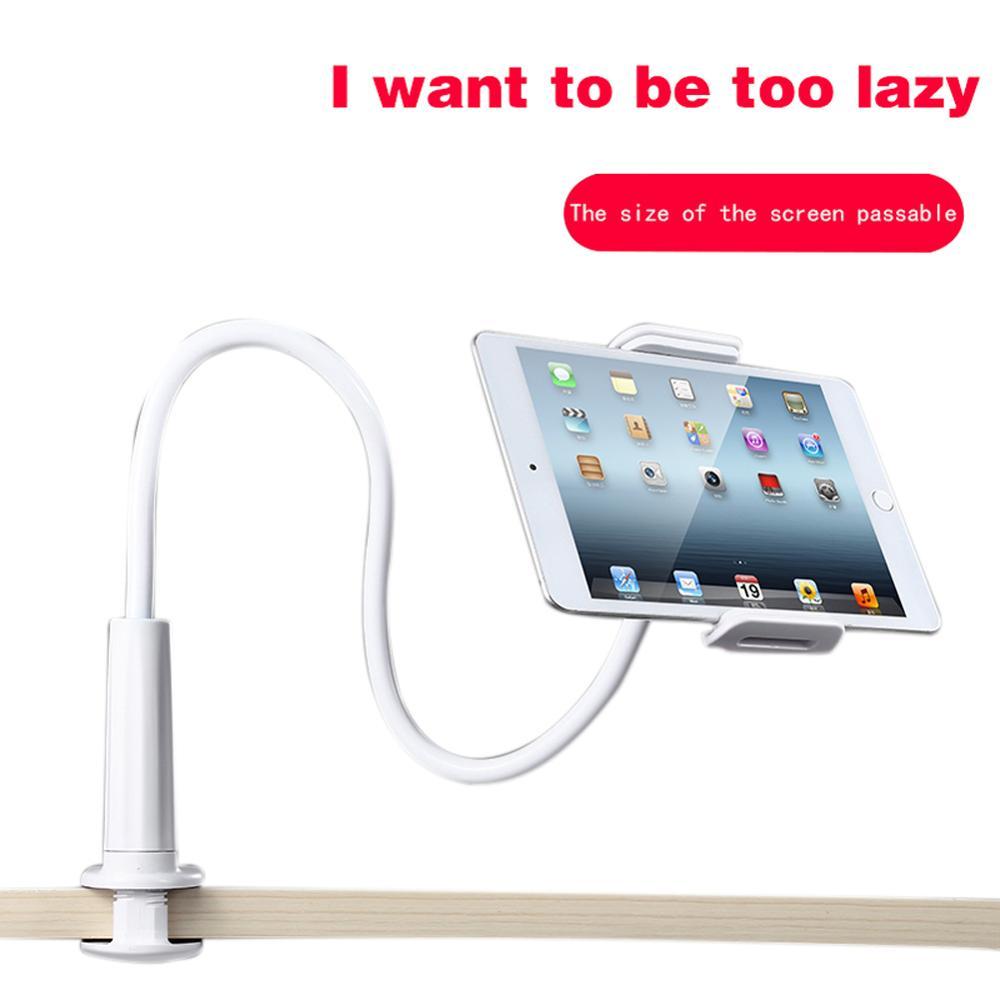 Soporte Flexible para teléfono perezoso de brazo largo, soporte de mesa, soporte de montaje con Clip para iPhone iPad Tablets