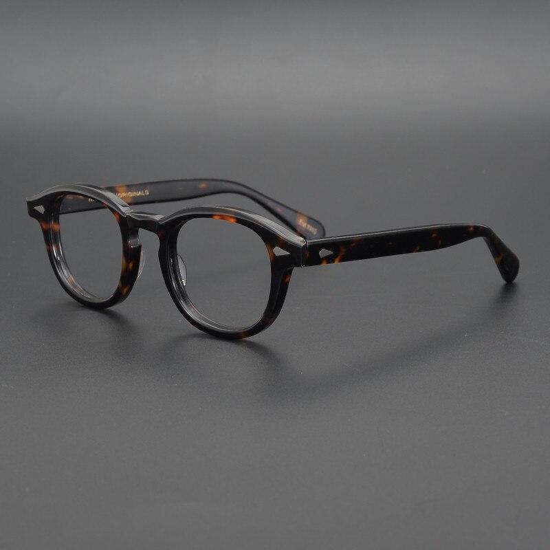 Роскошная оправа для очков из ацетата с леопардовым принтом для мужчин и женщин и мужчин в стиле ретро, брендовые оптические очки для близор...
