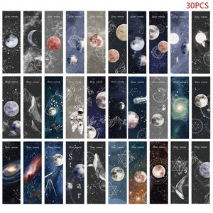 30pcs Planet Bookmarks Paper Page Notes Label Message Card Creative Reading Book Marker Art Practical School Supply Stationery