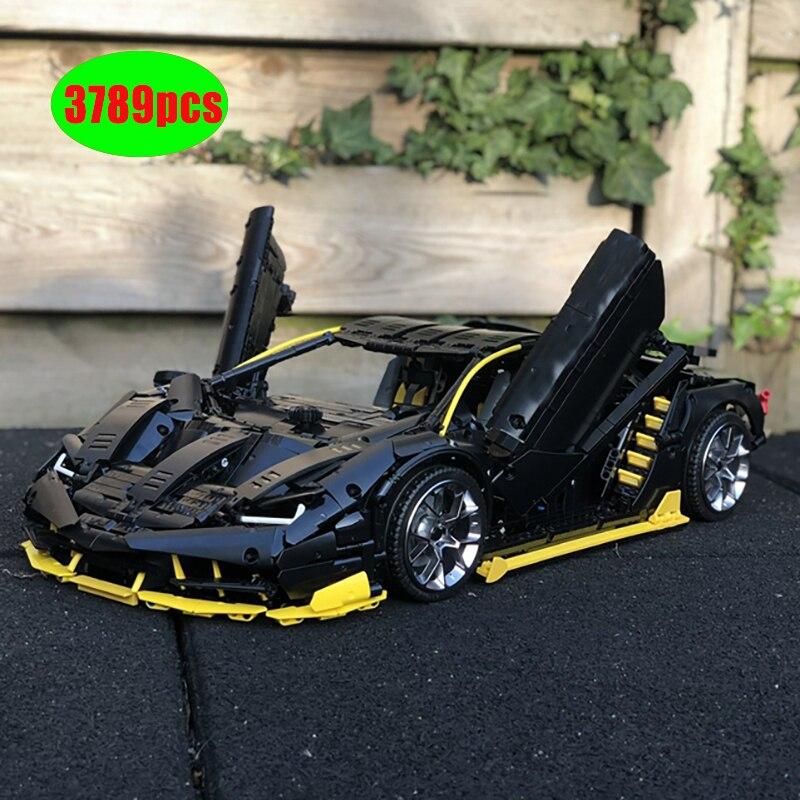 NewTechnic moc-39933 Lamborghini 100 año Centenario 18 hypercar carreras de Super auto Lepinings modelo juguete de bloques de construcción, regalo
