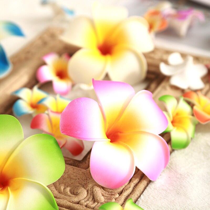 50 pc/lote 9cm grande flor artificial espuma falso flor frangipani para casa casamento flores decorativas diy grinalda flores falsas