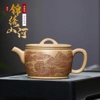 %e2%98%85jingming section clay jinxiu mountain river teapot pure handmade authentic tea set sand in the rain small hanwa teapot