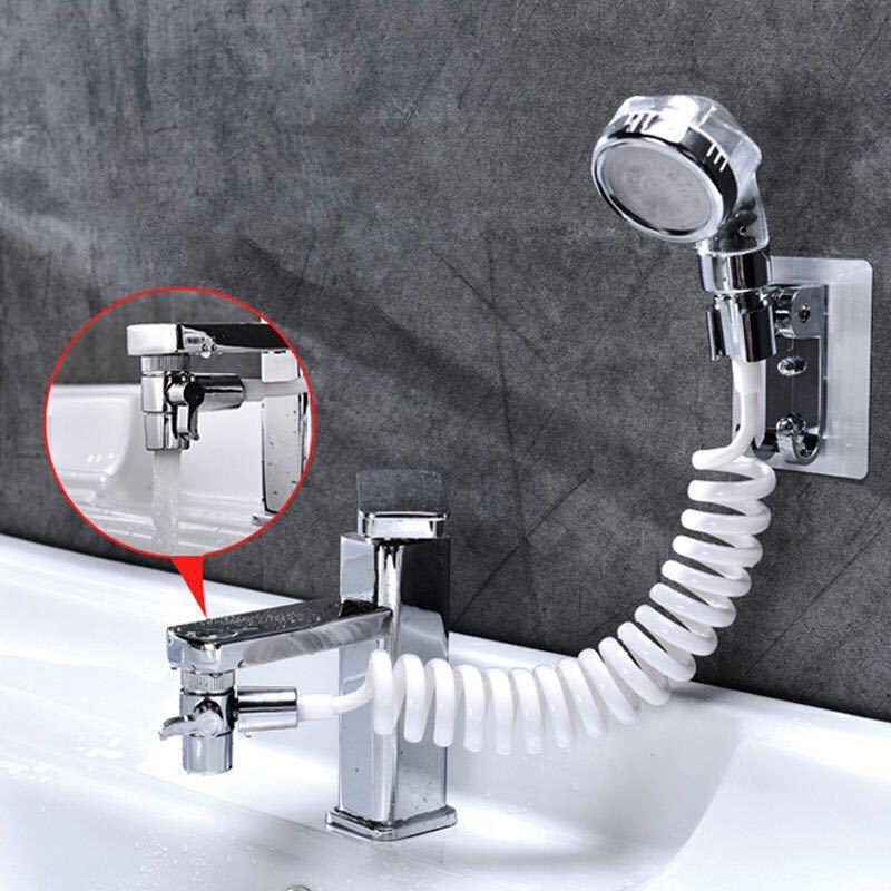 Artefacto para grifo de baño, lavabo externo, boquilla de ducha para champú, filtro de cocina para el hogar, cabezal de ducha pequeño retráctil