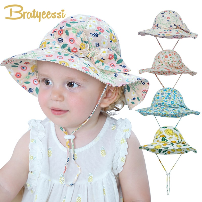 bucket hat women spring panama cap sun summer beach wide brim climbing holiday outdoor accessory New Bow Summer Baby Hat for Girls Panama Kids Bucket Hat Spring Autumn Travel Beach Big Brim Baby Cap Girls Sun Hats 12 Colors