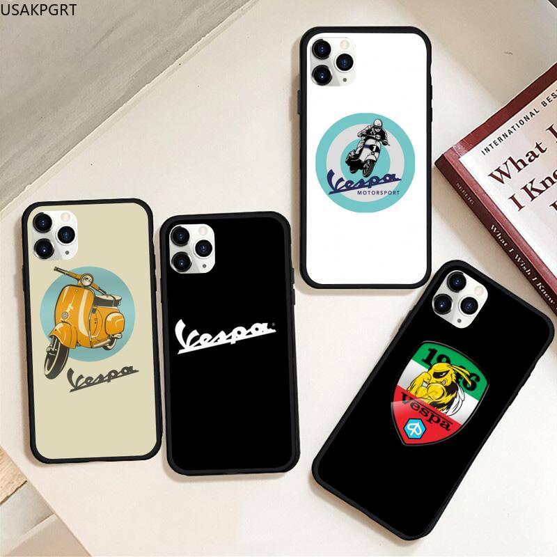 Vespa Scooter caja del teléfono de goma para iPhone 11 pro XS MAX 8 7 6 6S Plus X 5S SE 2020 XR caso