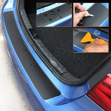 Autocollant de protection pour le coffre de voiture en Fiber de carbone, accessoire pour véhicule, renault clio golf 7 mazda cx-5 w211 vw polo 9n vw beetle toyota chr ford