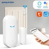 tuya smart home wifi door magnetic alarm door and window openclose wireless detector app security alarm system