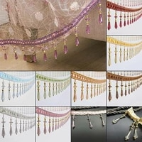 12 yardslot crystal curtain tassel lace trimming sewing trimmings crystal beaded fringe upholstery curtain accessory lace decor