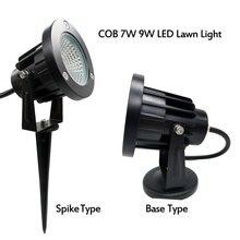 COB AC110V 220 فولت DC12V COB 9 واط 3 واط 5 واط 7 واط IP65 الحديقة المشهد شجرة مصباح حديقة في الهواء الطلق led سبايك ضوء prikspot tuinspot مصباح