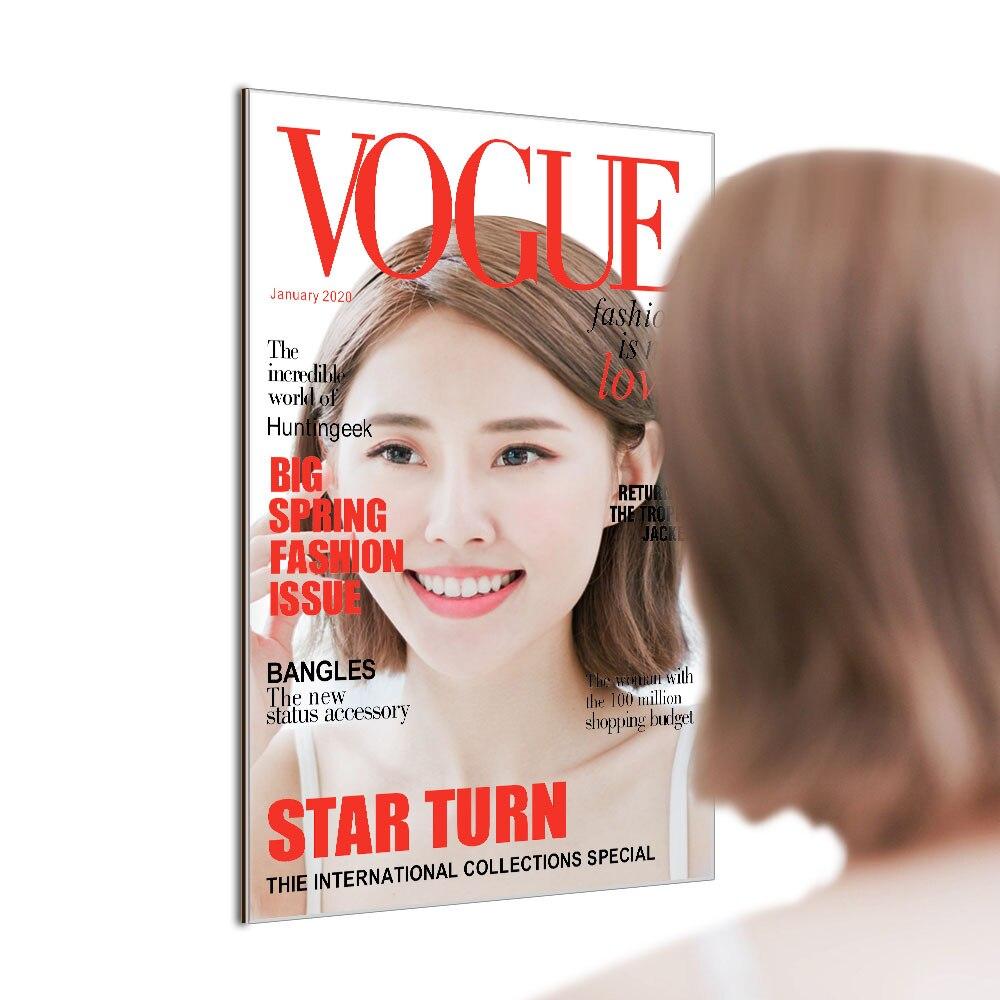 o Homem do Ano da Revista Cover Model Novidade Parede Espelho Presente Moda Vogue Magazine Supermodel Imitando Refletor