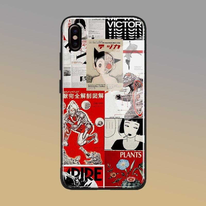 Японский Манга плакат искусство коллаж стекло Мягкий силиконовый чехол для телефона оболочка для Apple iPhone SE 6 6s 7 8 Plus X XR XS 11 Pro max