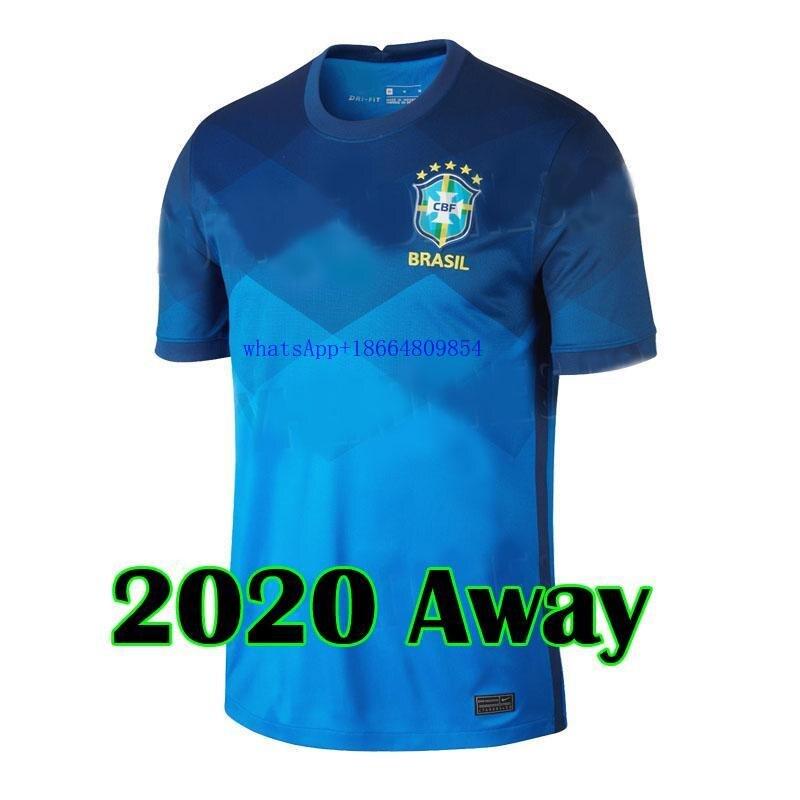 Adulto novo 2020 braziles camisa de futebol camisa de futebol 20 21 adulto