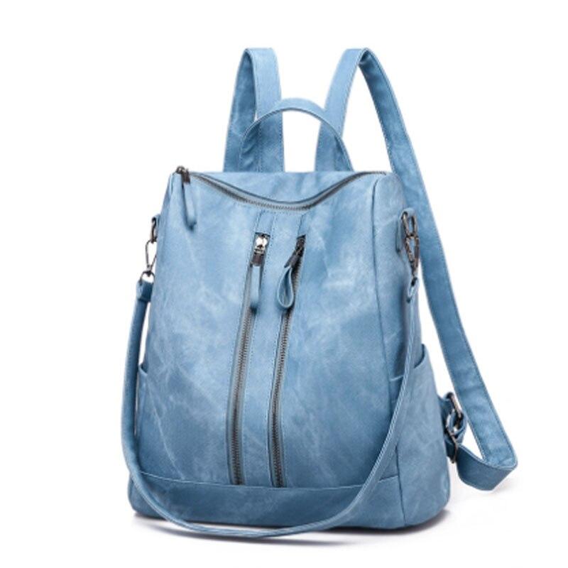 Women's bag women's backpack comfortable soft leather bag women's handbag women's messenger bag women's leisure backpack