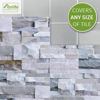 funlife%c2%ae light grey stone btick wall sticker wallpaper decorative removable eco friendly pvc bathroom kitchen backsplash floor